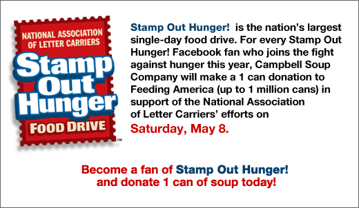 Stamp Out Hunger - Become A Fan On Facebook