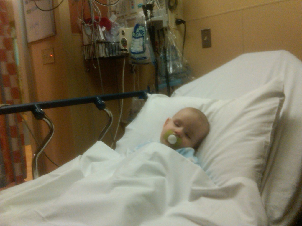 Aidan In The Hospital April 8th