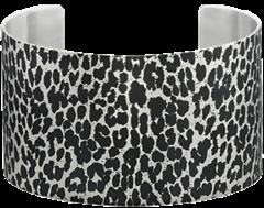 Stainless Steel Animal Print Cuff Bracelet