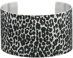 Stainless Steel Animal Print Cuff Bracelet