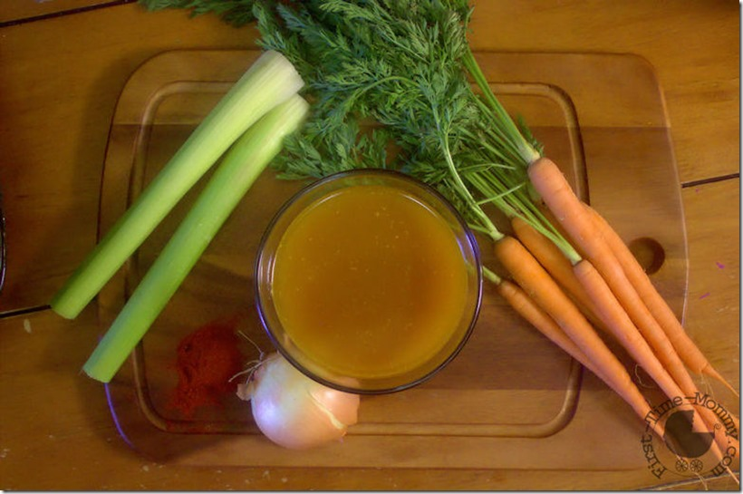 Golden Chicken Broth and Veggies