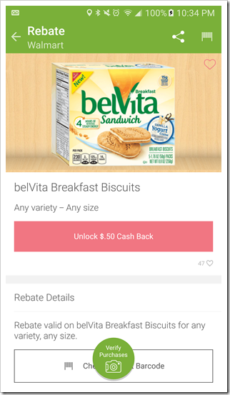 belVita Savings on Ibotta