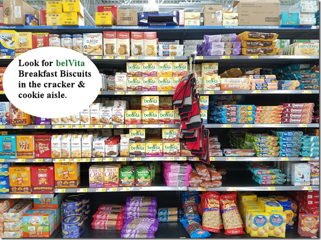 belVita Breakfast Biscuits are in the cookie aisle!