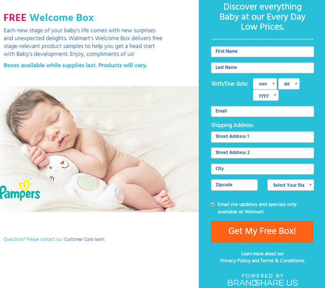 Free Baby Welcome Box from Walmart – Grab Yours Before They