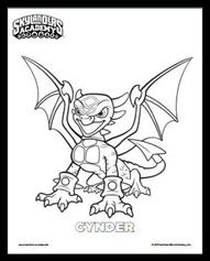 Cynder Coloring Page