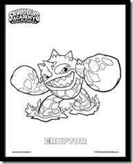 Eruptor Coloring Page