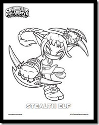 Stealth Elf Coloring Page