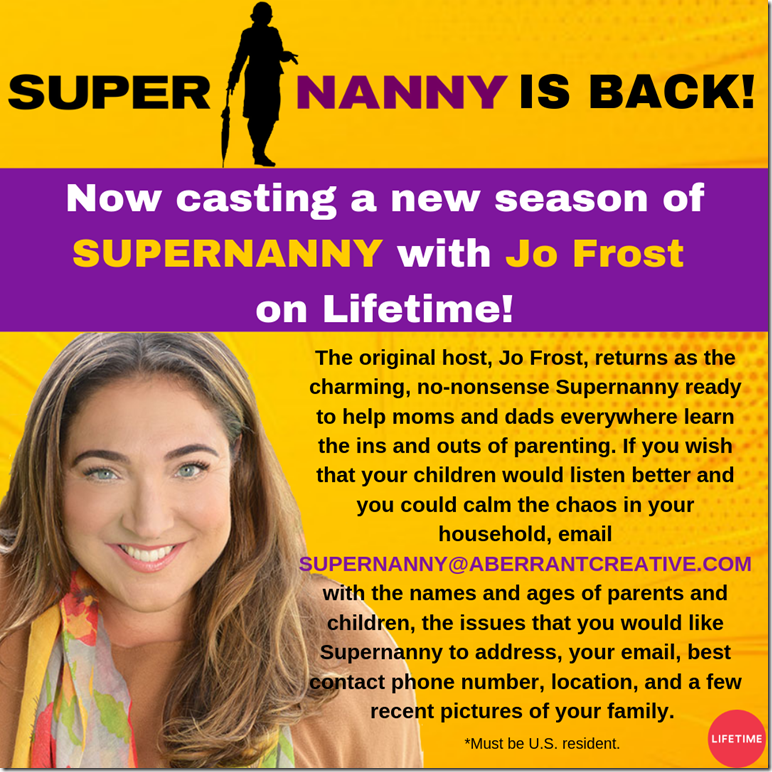 SuperNanny is Back–Will Debut on Lifetime in 2020–Now