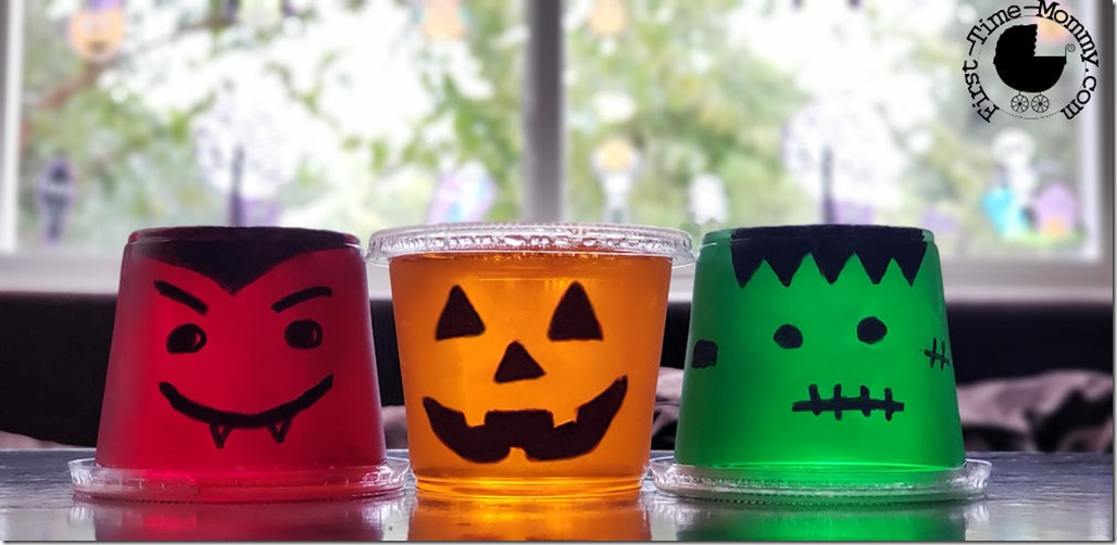 Monstrously Monsterific Halloween Jell-O cups