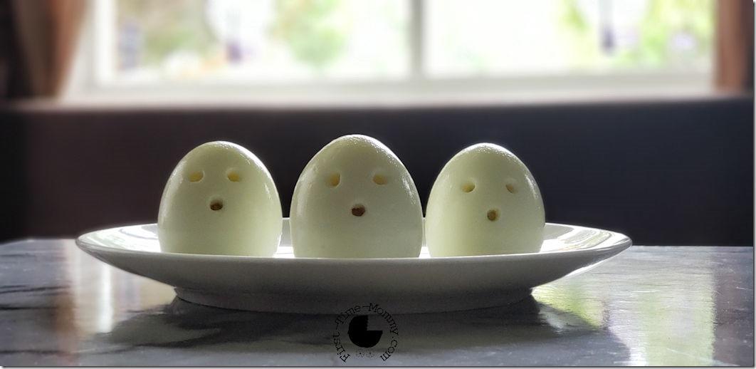 hard boiled egg ghosts